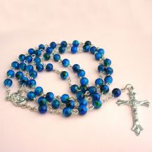 Rosary Beads for Children in Navy